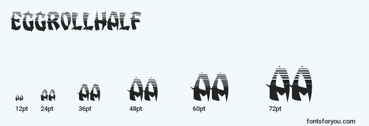 sizes of eggrollhalf font, eggrollhalf sizes
