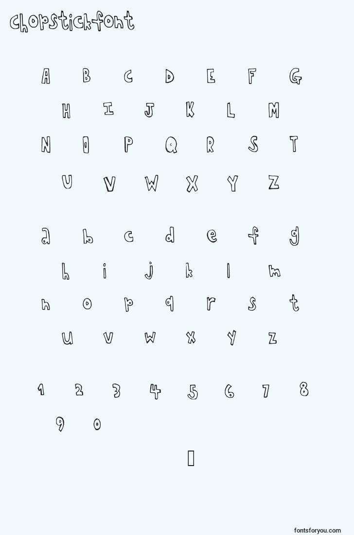 characters of chopstickfont font, letter of chopstickfont font, alphabet of  chopstickfont font