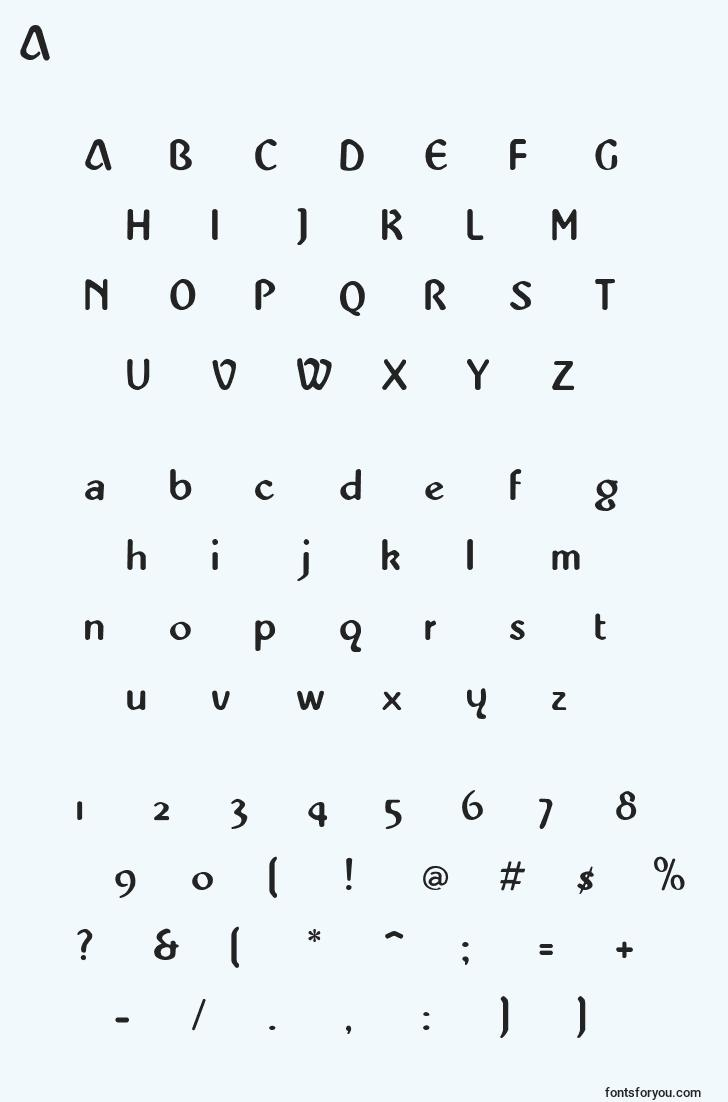 characters of abbeymedium font, letter of abbeymedium font, alphabet of  abbeymedium font