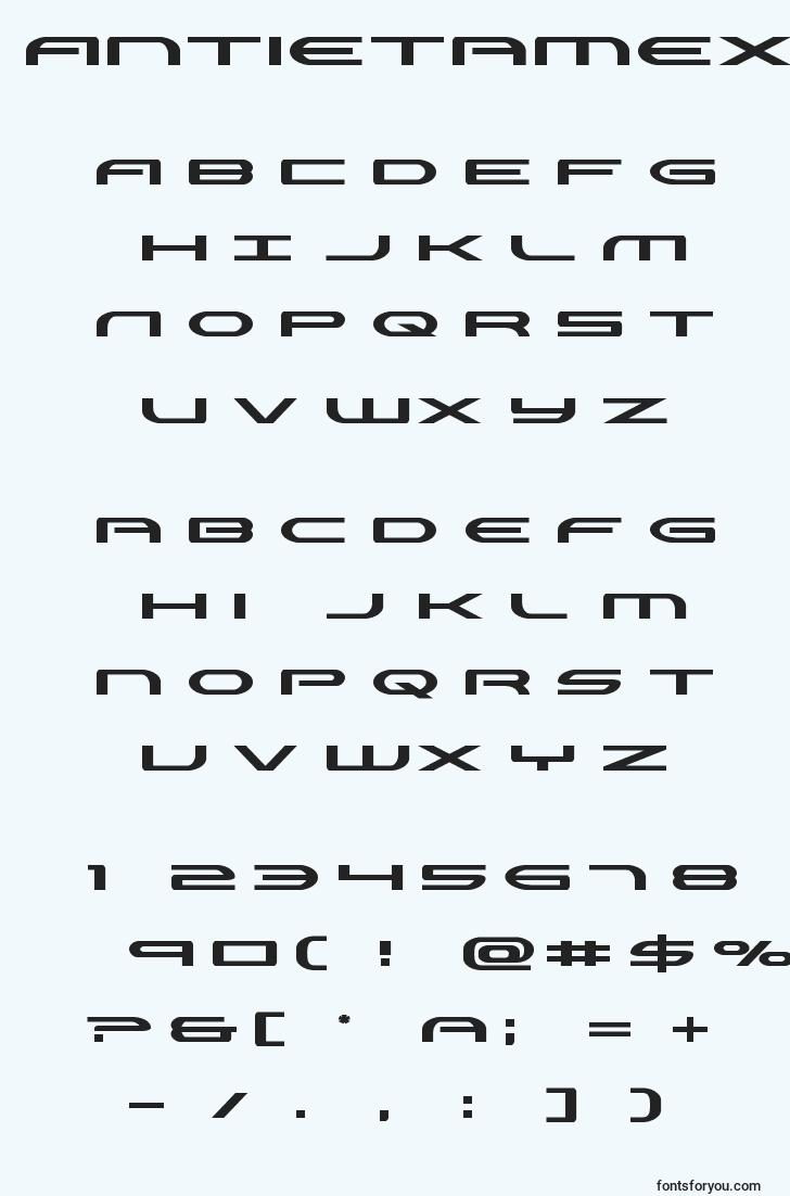 characters of antietamexpand font, letter of antietamexpand font, alphabet of  antietamexpand font