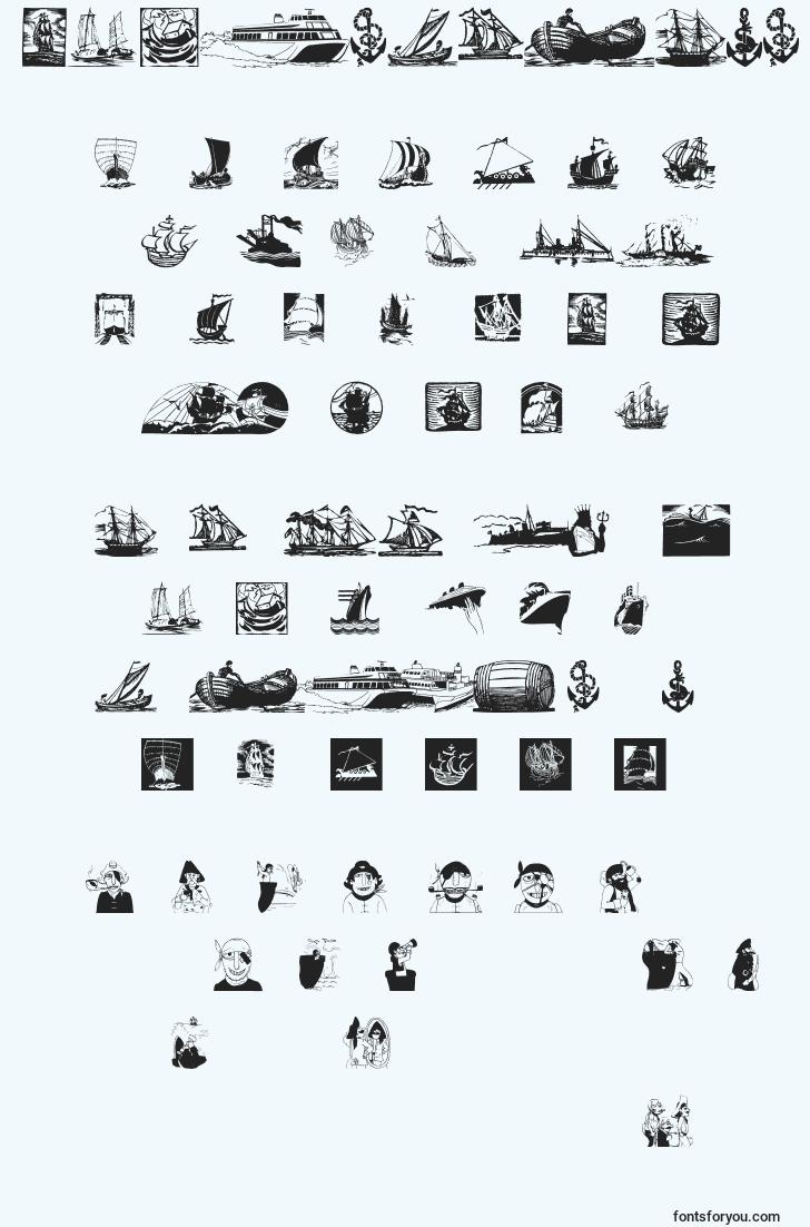 characters of shipsnboats font, letter of shipsnboats font, alphabet of  shipsnboats font