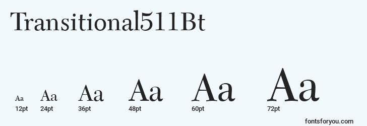 sizes of transitional511bt font, transitional511bt sizes