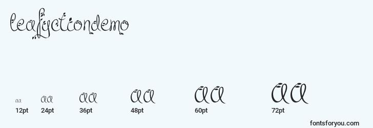 sizes of leafyctiondemo font, leafyctiondemo sizes