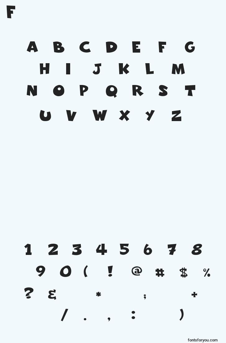 characters of freakomix font, letter of freakomix font, alphabet of  freakomix font