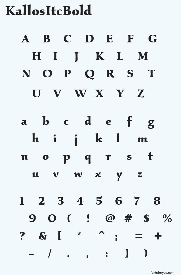 characters of kallositcbold font, letter of kallositcbold font, alphabet of  kallositcbold font