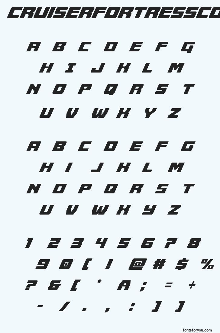 characters of cruiserfortresscondital font, letter of cruiserfortresscondital font, alphabet of  cruiserfortresscondital font