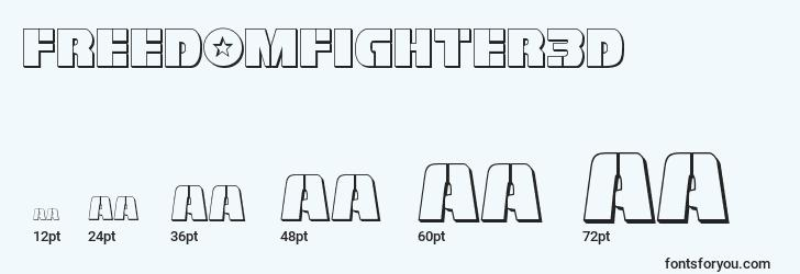 sizes of freedomfighter3d font, freedomfighter3d sizes
