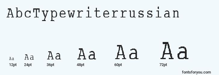 sizes of abctypewriterrussian font, abctypewriterrussian sizes