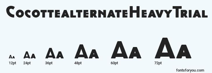 sizes of cocottealternateheavytrial font, cocottealternateheavytrial sizes