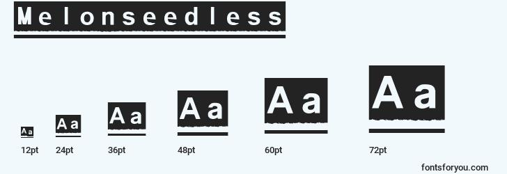 sizes of melonseedless font, melonseedless sizes