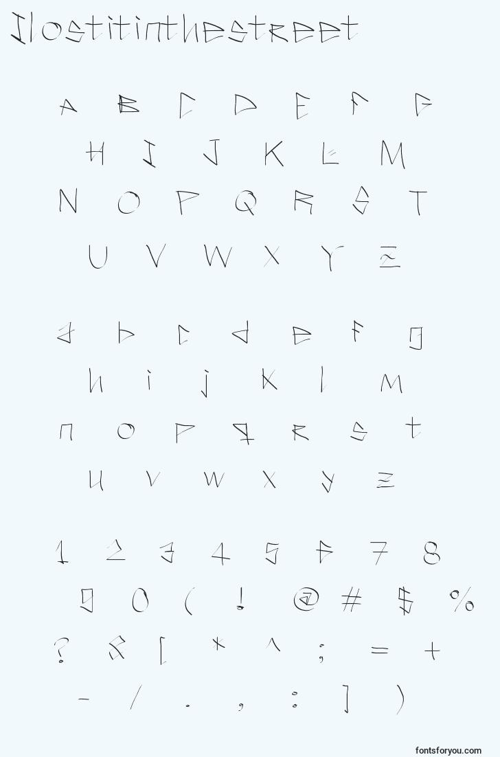 characters of ilostitinthestreet font, letter of ilostitinthestreet font, alphabet of  ilostitinthestreet font