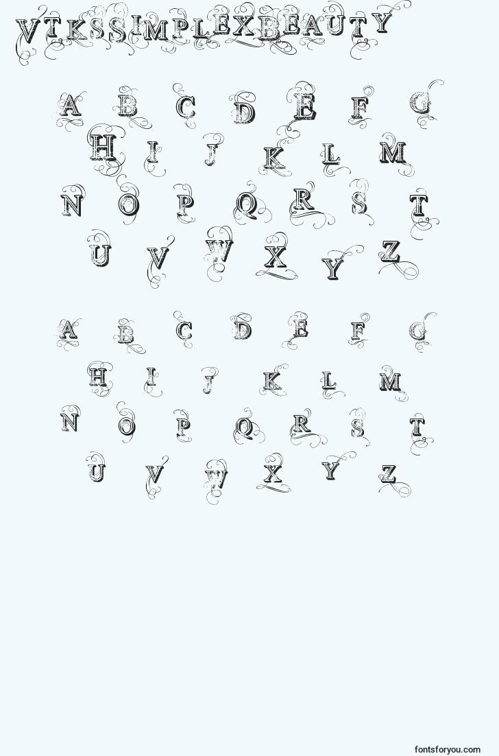 characters of vtkssimplexbeauty2 font, letter of vtkssimplexbeauty2 font, alphabet of  vtkssimplexbeauty2 font