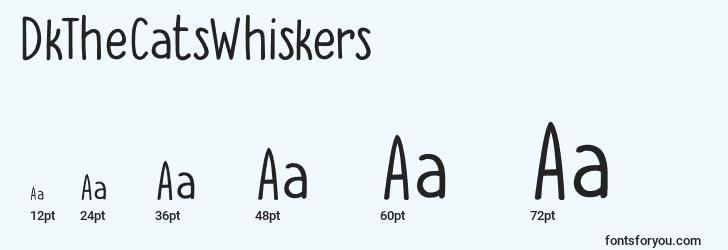 sizes of dkthecatswhiskers font, dkthecatswhiskers sizes