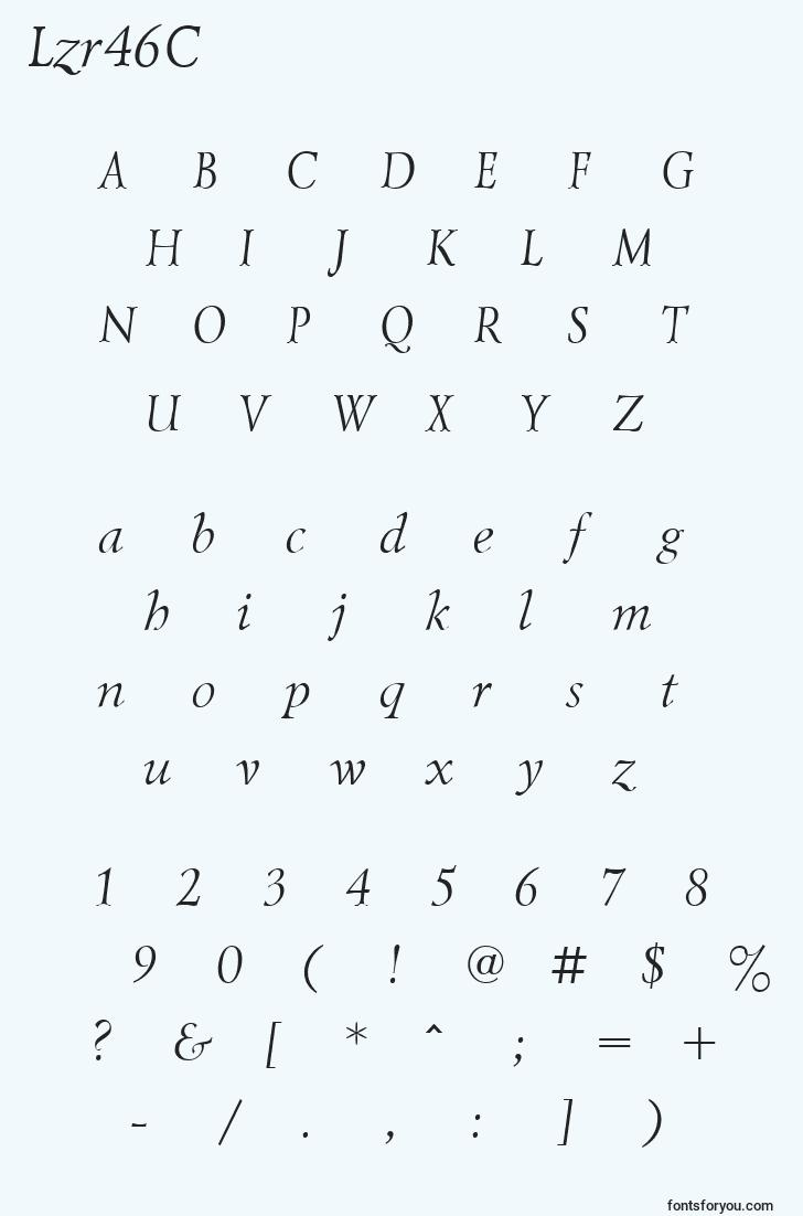 characters of lzr46c font, letter of lzr46c font, alphabet of  lzr46c font