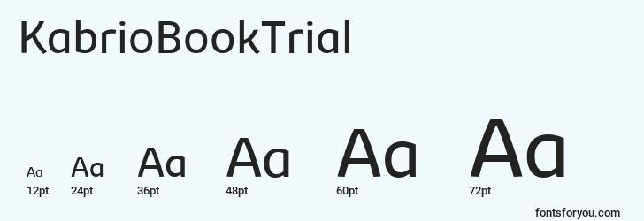 sizes of kabriobooktrial font, kabriobooktrial sizes