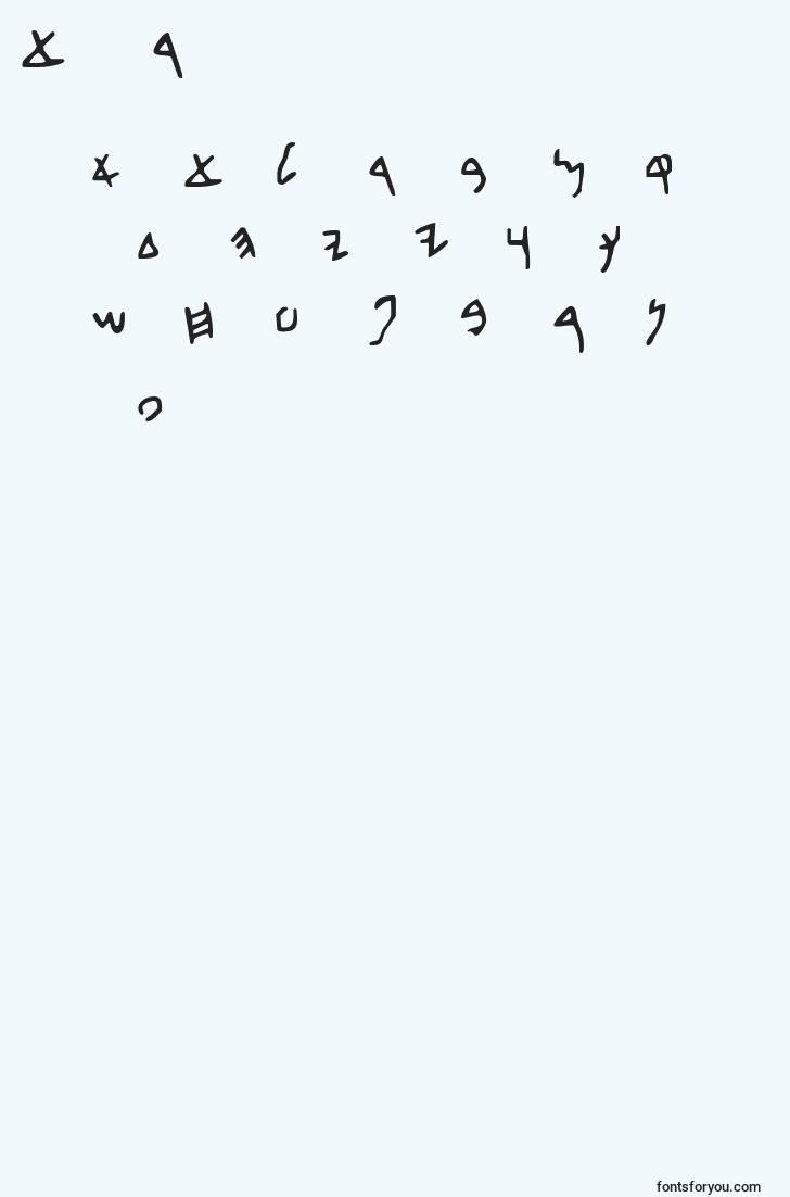 characters of bethdavid font, letter of bethdavid font, alphabet of  bethdavid font