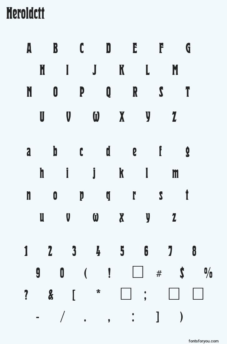 characters of heroldctt font, letter of heroldctt font, alphabet of  heroldctt font