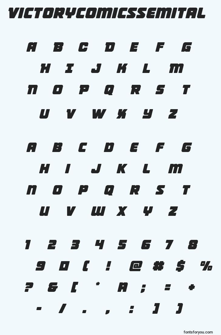 characters of victorycomicssemital font, letter of victorycomicssemital font, alphabet of  victorycomicssemital font