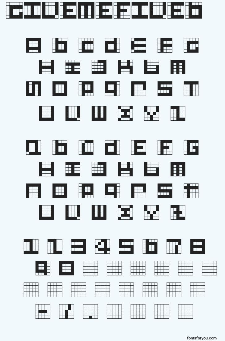 characters of givemefiveb font, letter of givemefiveb font, alphabet of  givemefiveb font