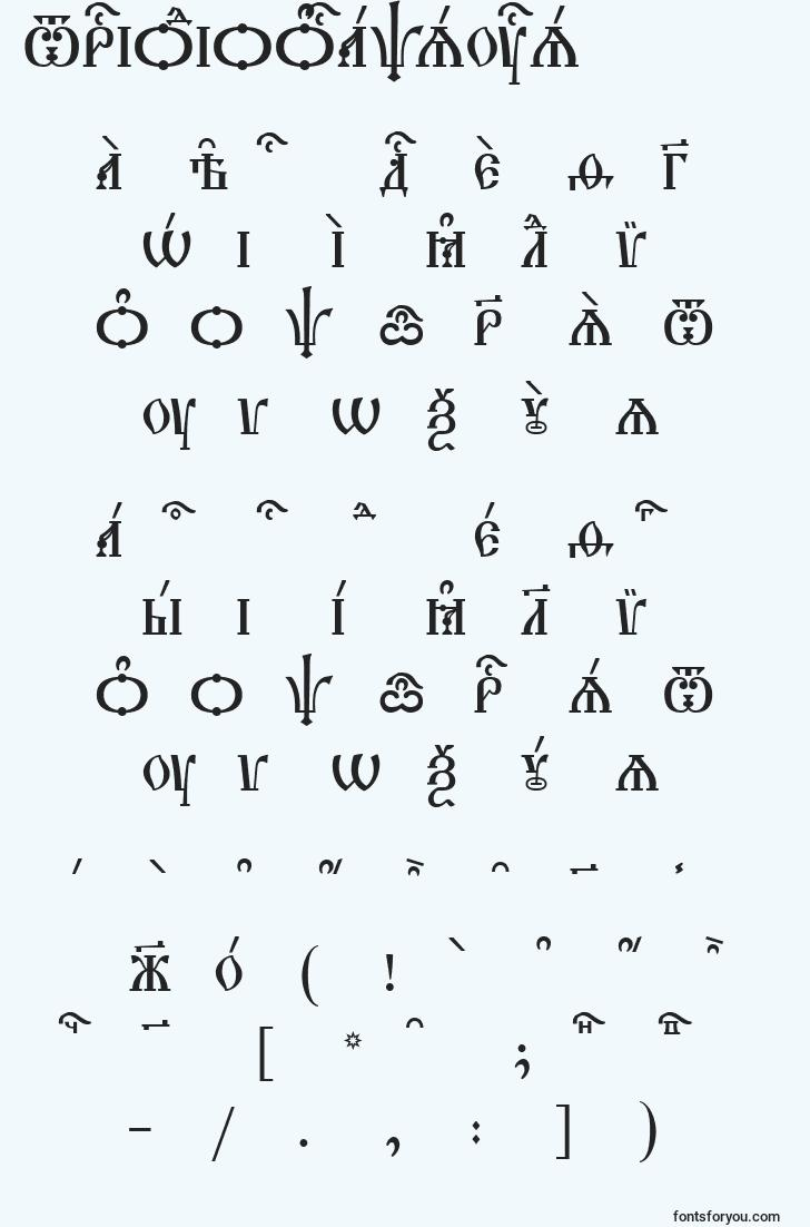 characters of triodioncapsucs font, letter of triodioncapsucs font, alphabet of  triodioncapsucs font