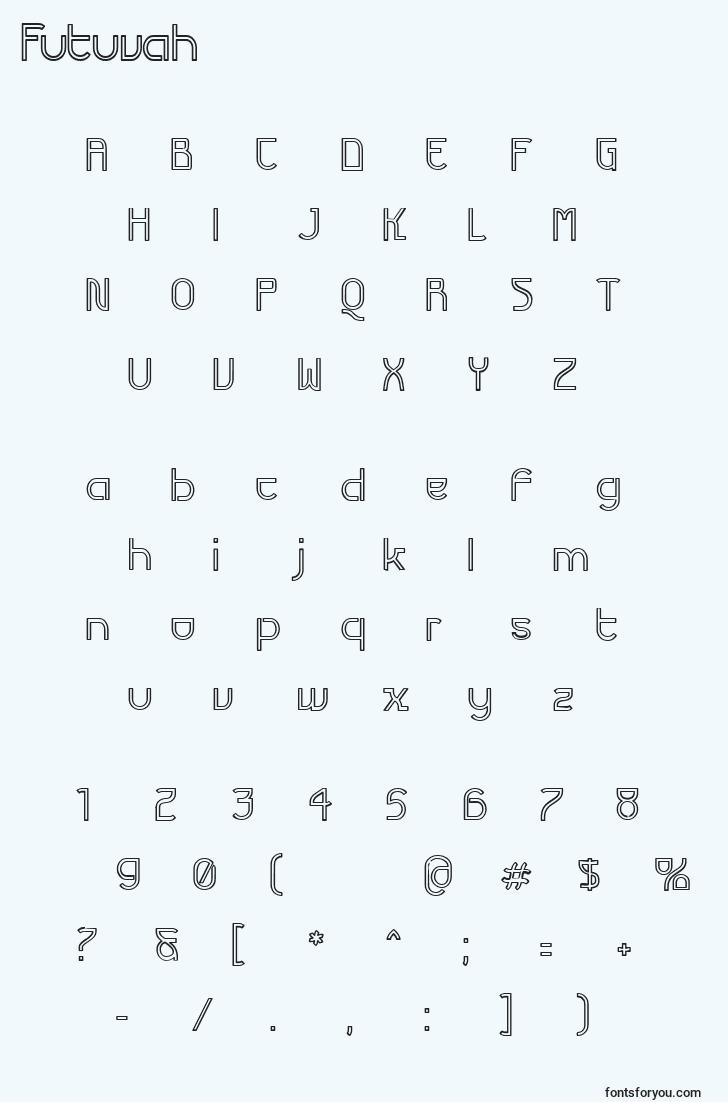 characters of futuvah font, letter of futuvah font, alphabet of  futuvah font