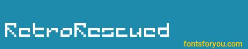 retrorescued, retrorescued font, download the retrorescued font, download the retrorescued font for free