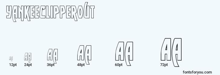 sizes of yankeeclipperout font, yankeeclipperout sizes