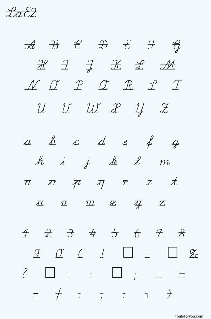 characters of lae2 font, letter of lae2 font, alphabet of  lae2 font