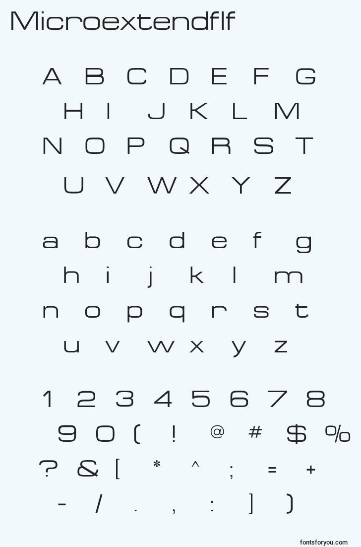characters of microextendflf font, letter of microextendflf font, alphabet of  microextendflf font