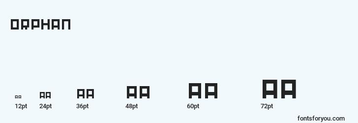 sizes of orphan font, orphan sizes