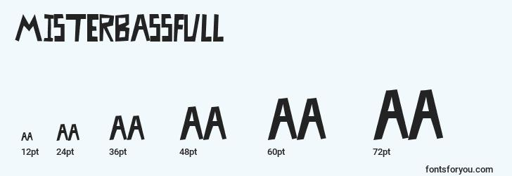 sizes of misterbassfull font, misterbassfull sizes