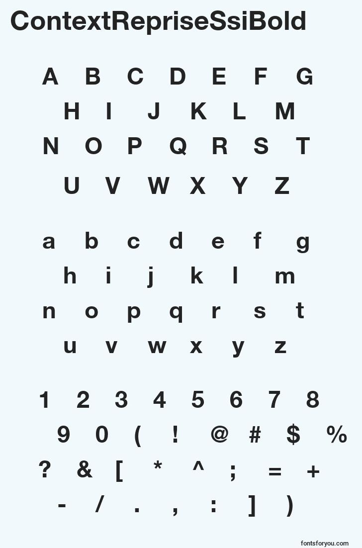 characters of contextreprisessibold font, letter of contextreprisessibold font, alphabet of  contextreprisessibold font