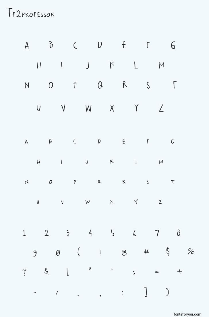characters of tf2professor font, letter of tf2professor font, alphabet of  tf2professor font