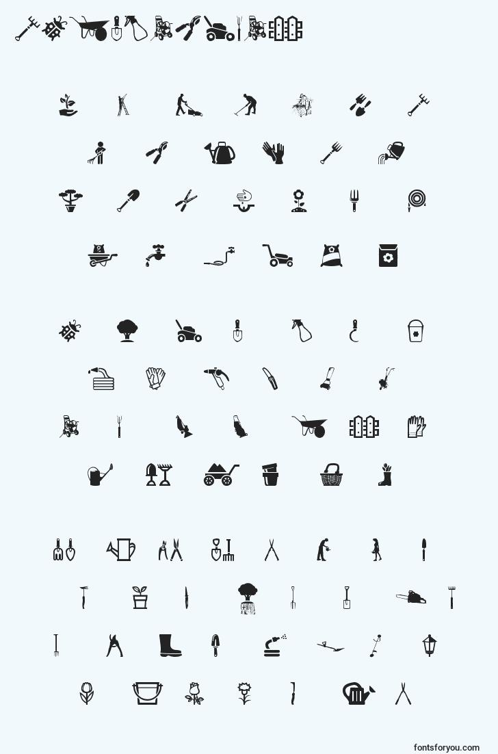 characters of gardenicons font, letter of gardenicons font, alphabet of  gardenicons font