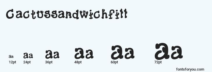 sizes of cactussandwichfill font, cactussandwichfill sizes
