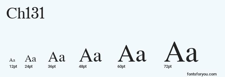 sizes of ch131 font, ch131 sizes