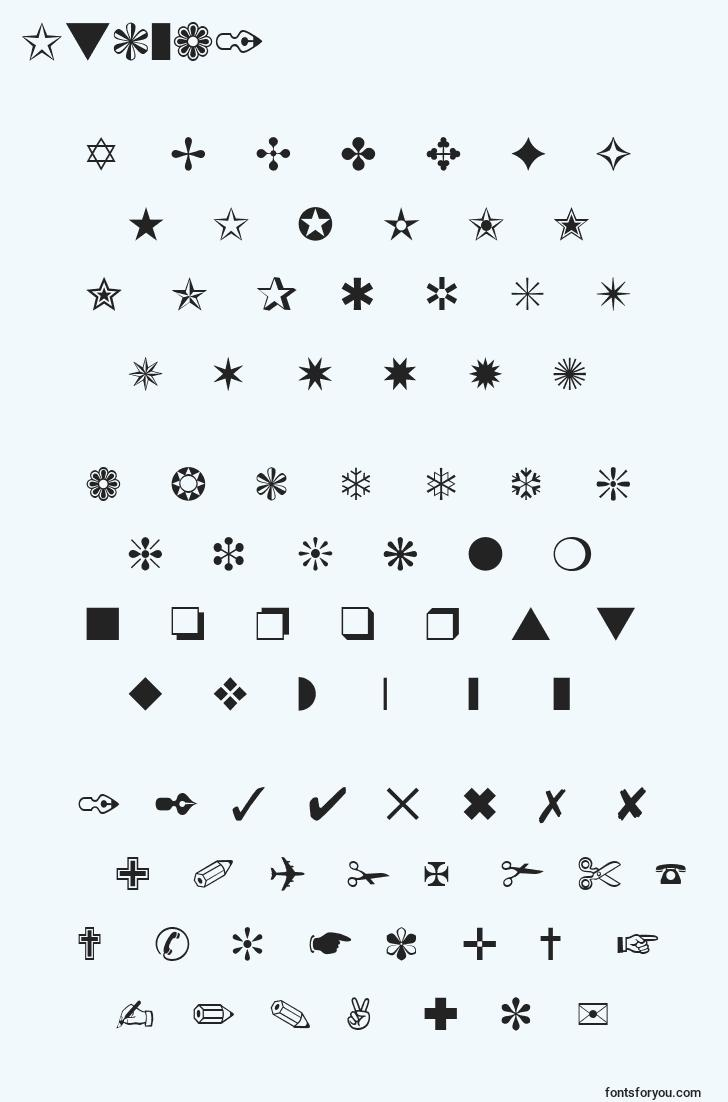 characters of itcza1 font, letter of itcza1 font, alphabet of  itcza1 font