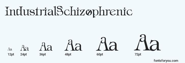 sizes of industrialschizophrenic font, industrialschizophrenic sizes