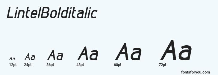 sizes of lintelbolditalic font, lintelbolditalic sizes