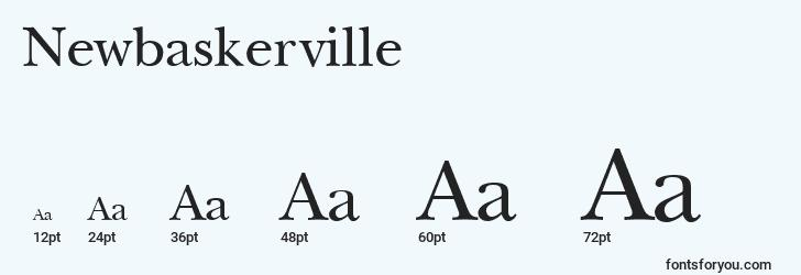 sizes of newbaskerville font, newbaskerville sizes