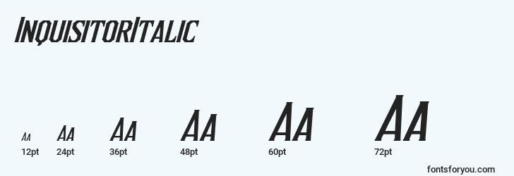 sizes of inquisitoritalic font, inquisitoritalic sizes