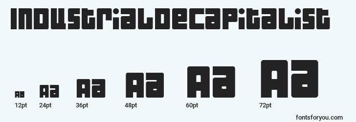sizes of industrialdecapitalist font, industrialdecapitalist sizes