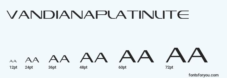 sizes of vandianaplatinlite font, vandianaplatinlite sizes