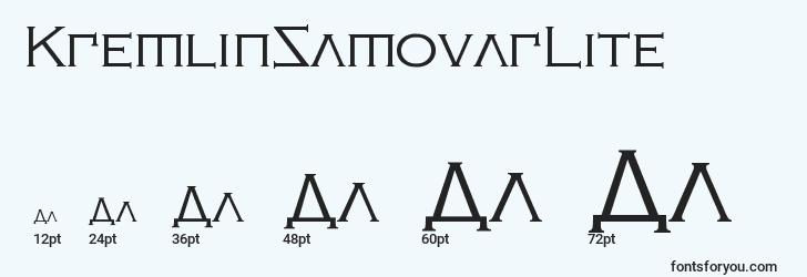 sizes of kremlinsamovarlite font, kremlinsamovarlite sizes