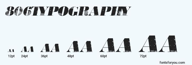 sizes of 806typography font, 806typography sizes