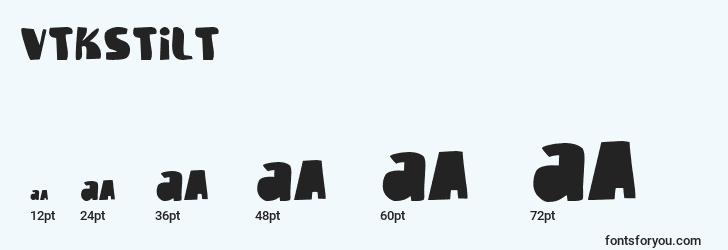 sizes of vtkstilt font, vtkstilt sizes