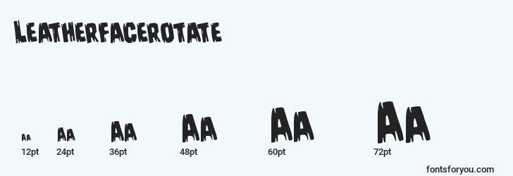 sizes of leatherfacerotate font, leatherfacerotate sizes