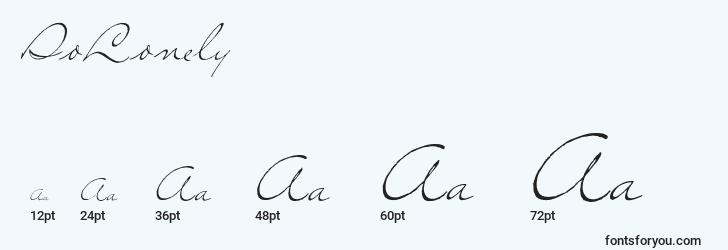 sizes of solonely font, solonely sizes