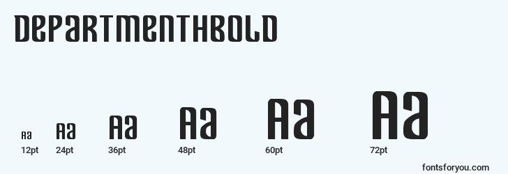 sizes of departmenthbold font, departmenthbold sizes