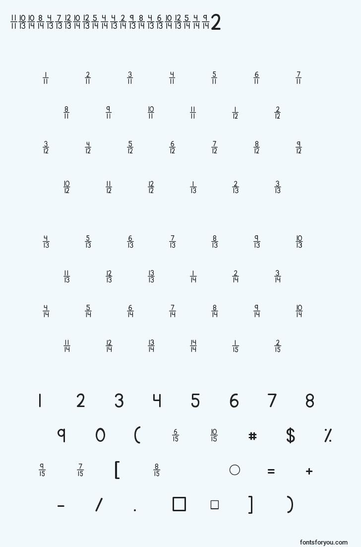 characters of kgtraditionalfractions2 font, letter of kgtraditionalfractions2 font, alphabet of  kgtraditionalfractions2 font
